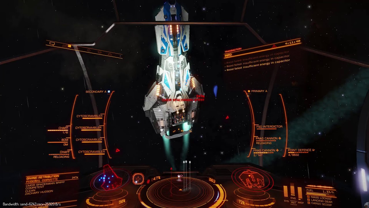 Powerplay Silly PvP, My Bubble Taxi Asp Explorer vs Federal Corvette (Elite  Dangerous)