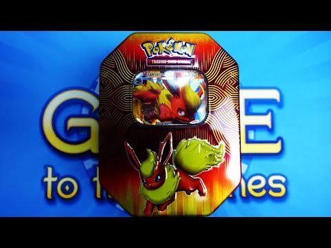Pokemon - Flamara GX Tin Box - Opening Unboxing