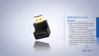 Storite 90 degree right angle hdmi adapter Male To Female ,90 degree hdmi bend