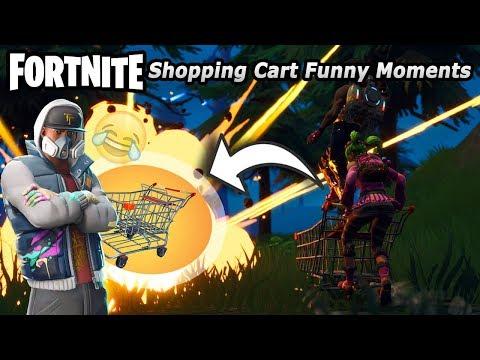Fortnite Battle Royale Shopping Cart Funny Moments