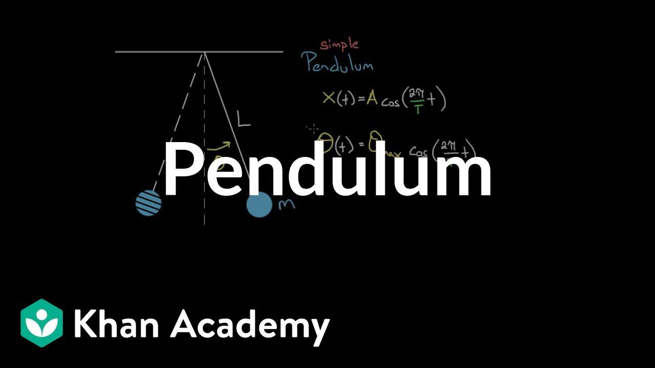 Pendulums (video) | Simple harmonic motion | Khan Academy