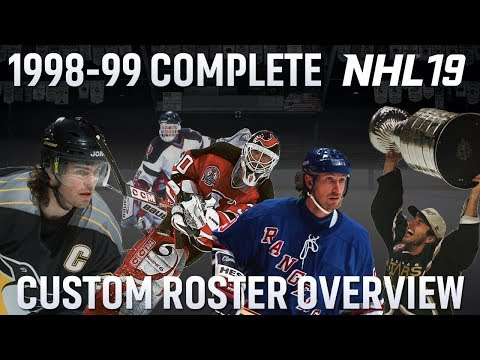 NHL 19 - 1998/99 Complete Roster Build Overview - 650+ Players!!