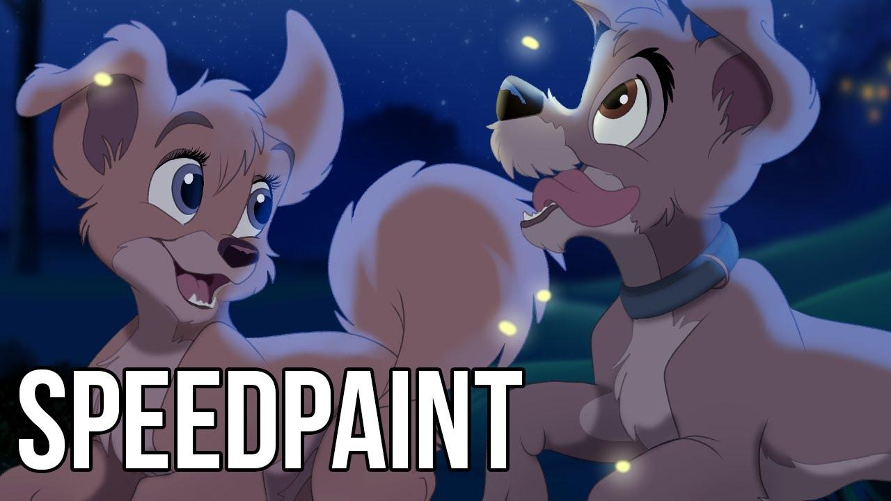Speedpaint Angel Scamp Lady And The Tramp 2 Disney Fan Art Youtube