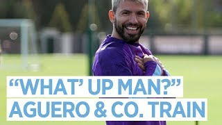 THE TEAM TRAIN AFTER WIN AGAINST CRYSTAL PALACE | MAN CITY