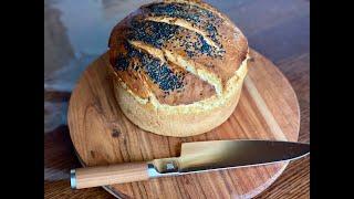 Выпечка хлеба в керамической печи Примо Primo Grill
