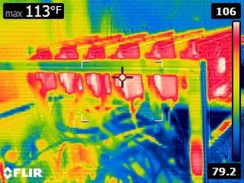 Lets Look at A 6 GPU Mining Rig With A Thermal Imaging Camera