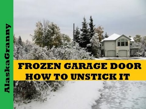 Frozen Garage Door Fix Youtube
