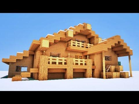 MINECRAFT TUTO - CHALET ! :p - YouTube