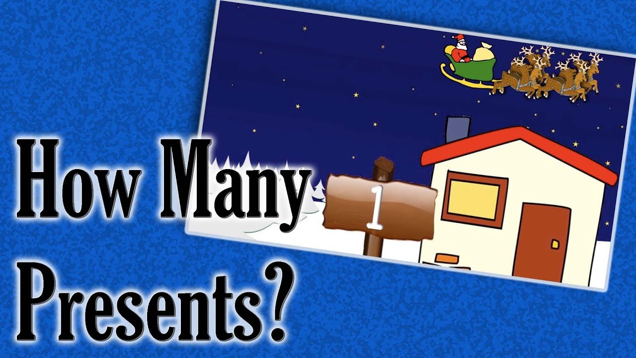 How Many Presents Christmas Counting Game For Kids