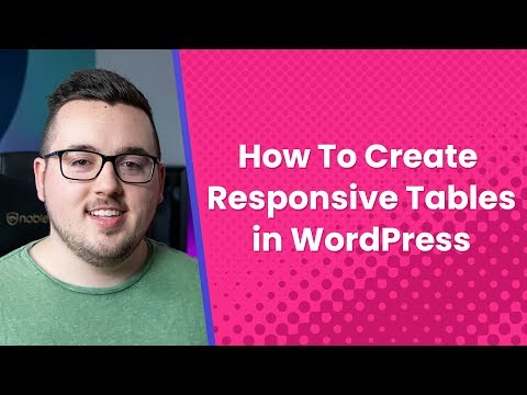 How to Create Responsive Tables in WordPress thumbnail