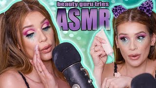 BEAUTY GURU Tries ASMR (INTERESTING SOUNDS) | Festival Makeup Tutorial