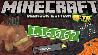 Minecraft Bedrock BETA 1.16.0.67 OUT NOW ! Sign-in + Backend [ Change Log ] MCPE / Xbox / Windows