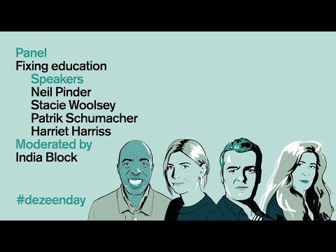 Patrik Schumacher and Harriet Harriss clash during education panel at Dezeen Day   Dezeen Day