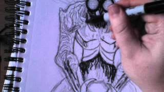 How To Draw Fly Creature - Inking