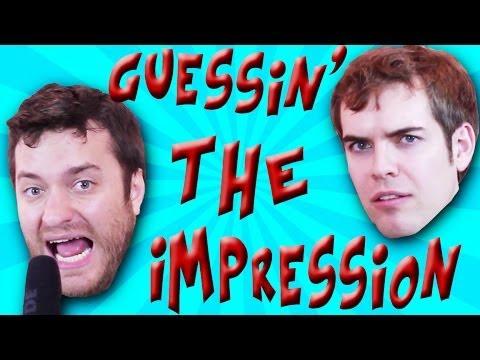 GUESS THE IMPRESSION Brock Baker vs Jacksfilms