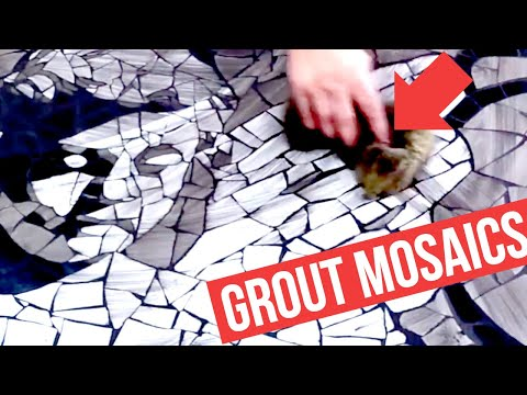 Grouting mosaic tile art - tutorial video