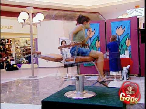 Spinning Salon Chair Prank! - Just For Laughs Gags