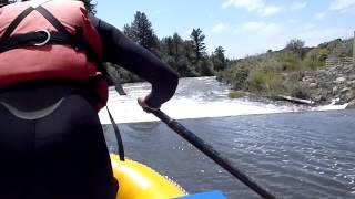 rafting the falls river diversion dam.  idaho june 6 2012