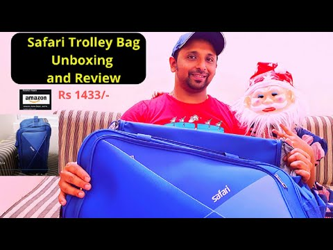 Safari Trolley Bag Unboxing and Review