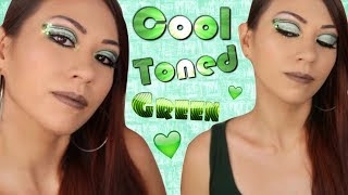 Cool Toned Mint Green Eyeshadow ll Double Liner Makeup Tutorial