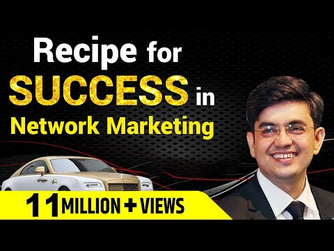 RECIPE FOR SUCCESS IN NETWORK MARKETING |  MR SONU SHARMA  |  HINDI  |  PART - 1