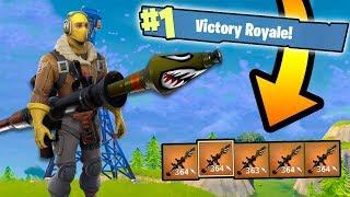 5 Gold Rocket Launchers vs. Solo Squads! (Fortnite Battle Royale)