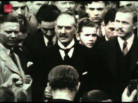 Neville Chamberlain returns from his second visit to Hitler