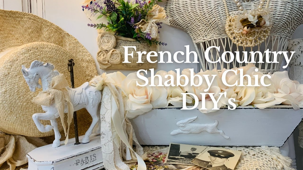 FRENCH COUNTRY SHABBY CHIC FARMHOUSE DIY PROJECTS! DESIGNING DECOR USING IOD STAMPS & MOULDS