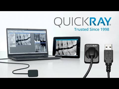 QuickRay dental sensor with Dexis 10 ClearVu - YouTube
