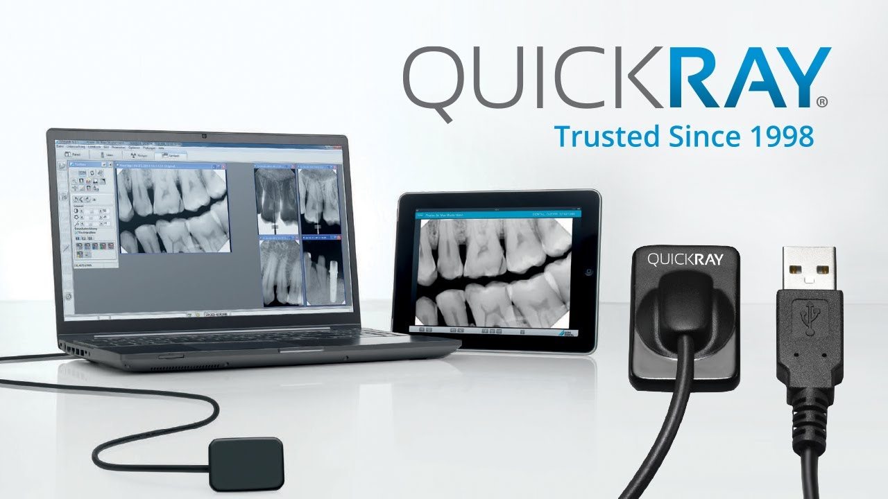 QuickRay dental sensor with Dexis 10 ClearVu