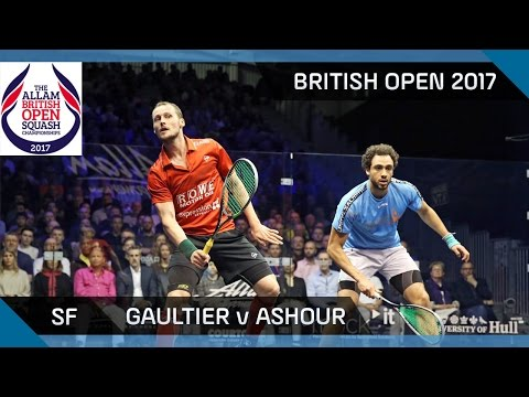 Squash: Gaultier v Ashour - British Open 2017 SF Highlights