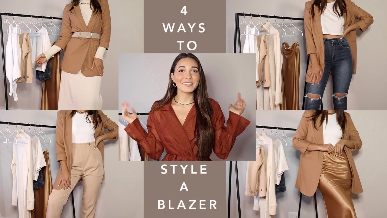 How to: 4 ways to Style a blazer | Style tips