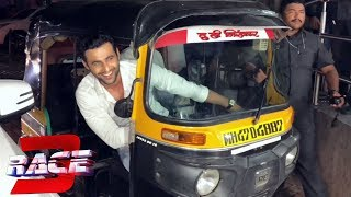 RACE 3 Villain Freddy Daruwala Drive Auto Rickshaw | Race 3 Grand Premier | Salman Khan