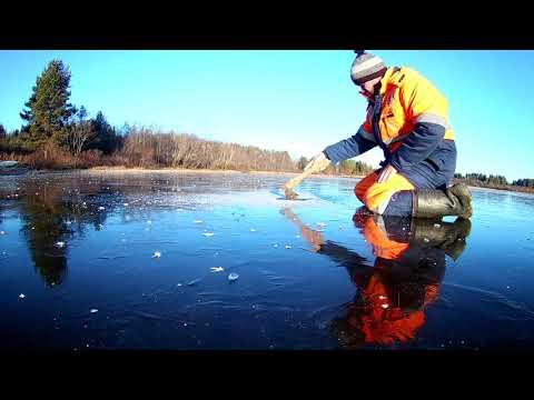 Рыбалка по первому льду 10 ноября 2018. Республика Коми