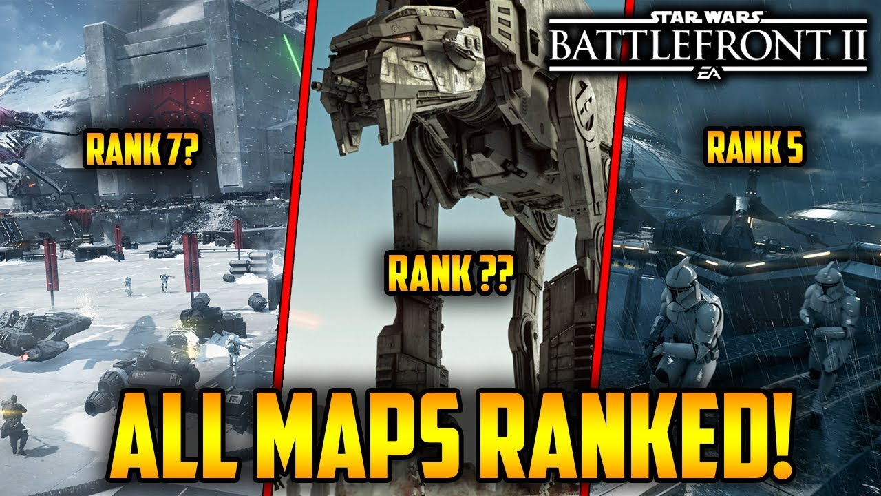 All Galactic ault Maps Ranked From Worst To Best! Star Wars ... on
