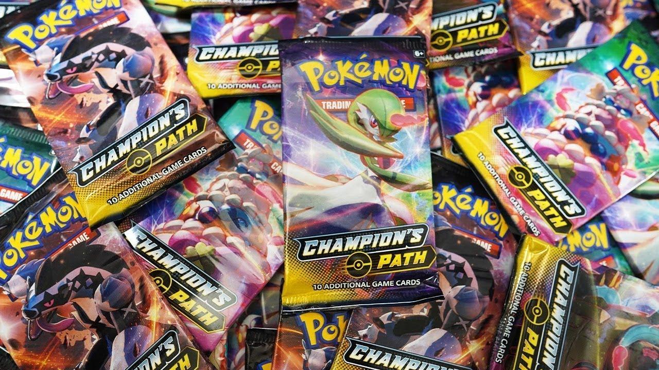 Opening 22x Pokemon Champion's Path booster packs