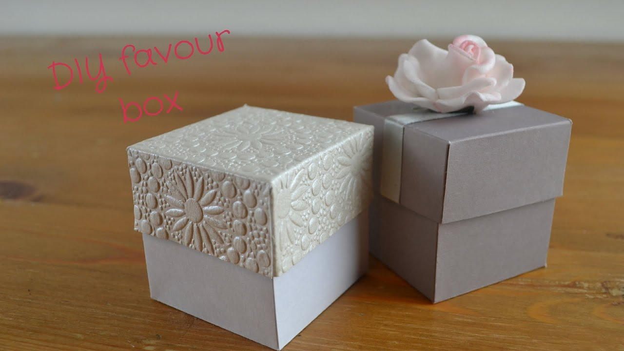 Easy DIY Favour Box: How to create your own wedding favour boxes - YouTube