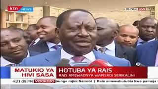 Raila Odinga's reaction after Uhuru's state of the Nation address