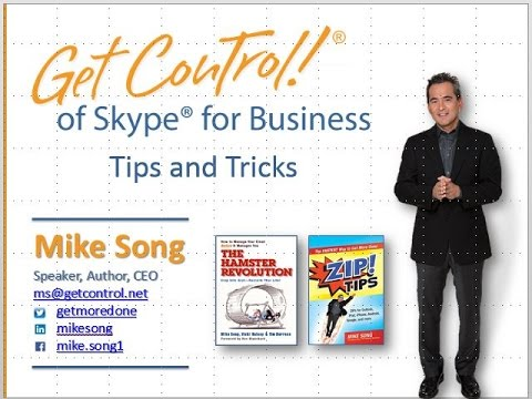 Skype for Business Tips and Tricks