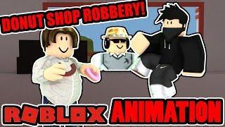 ROBLOX Jailbreak Robbery - I Love Donuts (Funny Animation)