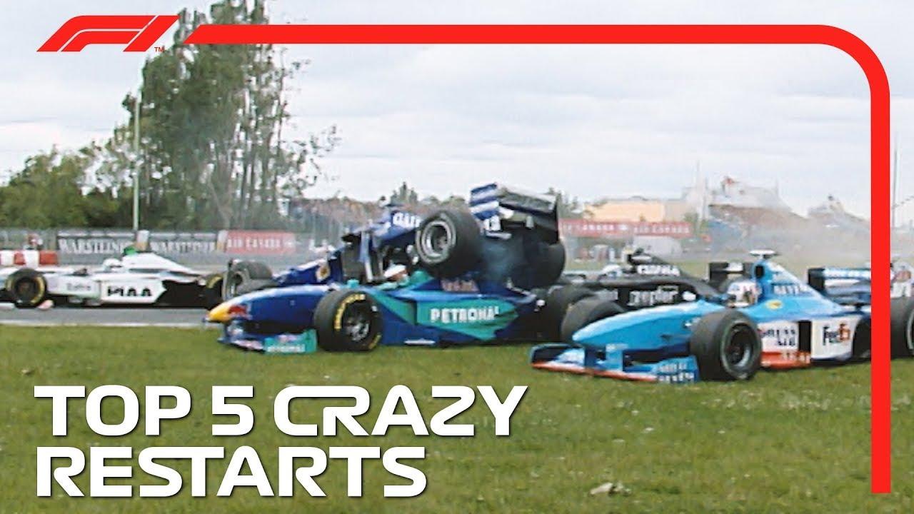 Top 5 Crazy Restarts in F1!