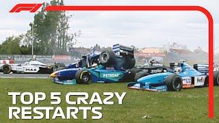 Top 5 Crazy Resтarts in F1!