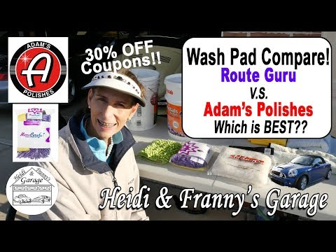 Wash Pad compare! RouteGurus V.S. Adam's Polishes (30% OFF COUPONS) Which is BEST??