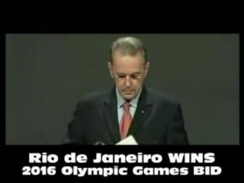 Rio de Janeiro chosen as host city for the 2016 Olympic Games