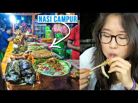 Street Food at Gianyar Night Market in Bali, Indonesia