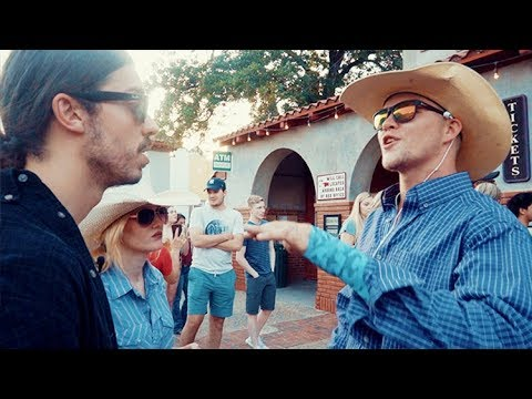 Texan Cowboys Meet Vegan Protesters