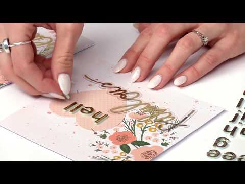 How to Create Elegant Cards for a Wedding, Anniversary, Bridal Showers with the Nested Heart Dies