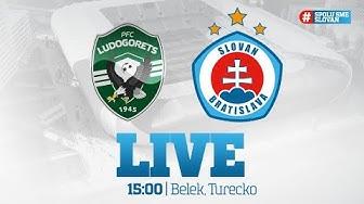LIVE: PFK Ludogorec Razgrad - ŠK Slovan Bratislava