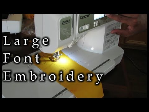 Learn How To Sew Any Font Size On A Computerized Sewing Machine