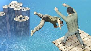 GTA 5 Water Ragdolls/Falls episode 3 [Flooded Los Santos]